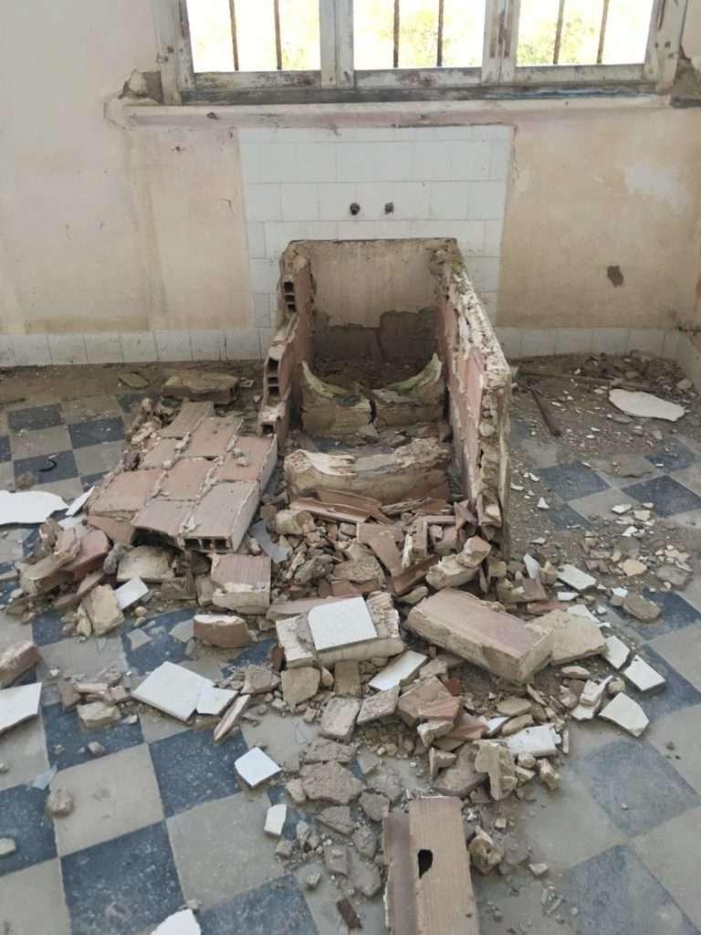 Padiglione Tanzi, vasca piano terra.