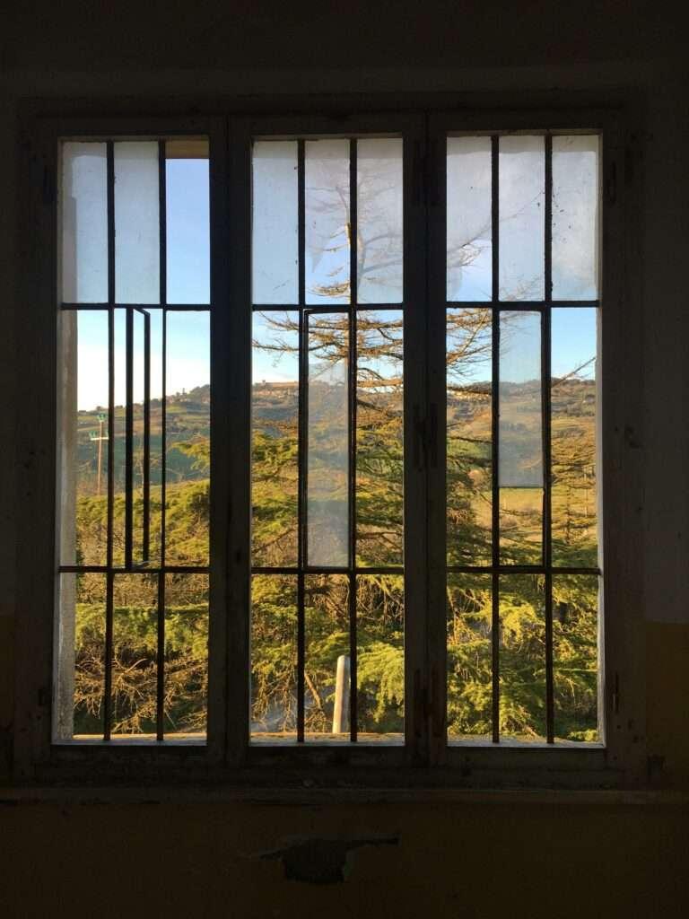 Padiglione Tanzi, vista su Volterra.
